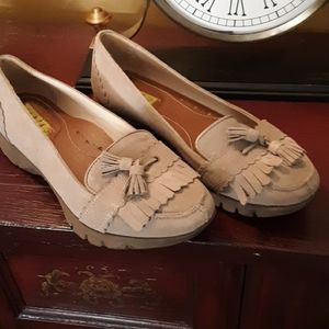 Hush Puppies suede moc loafers 7
